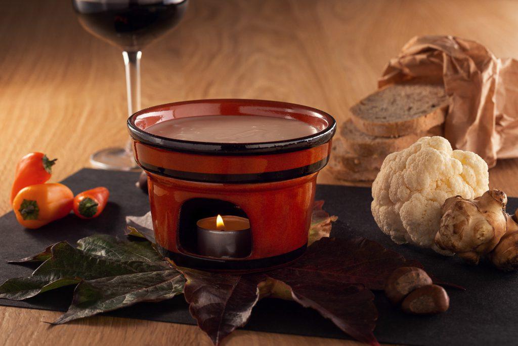 Fonduta e vino rosso